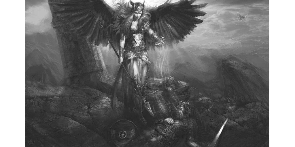 valkyrie-slain-warrior-valhalla