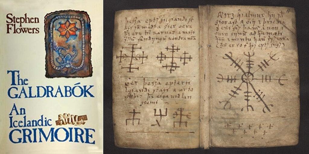 Galdrabók-Icelandic-Book-Magic-helm-terror-symbol-Ægishjálmur