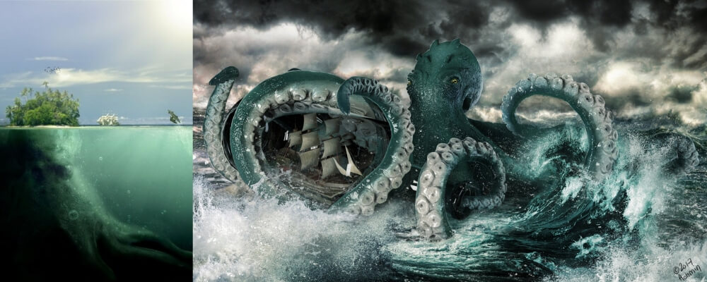 The norse mythology creature nammed Kraken