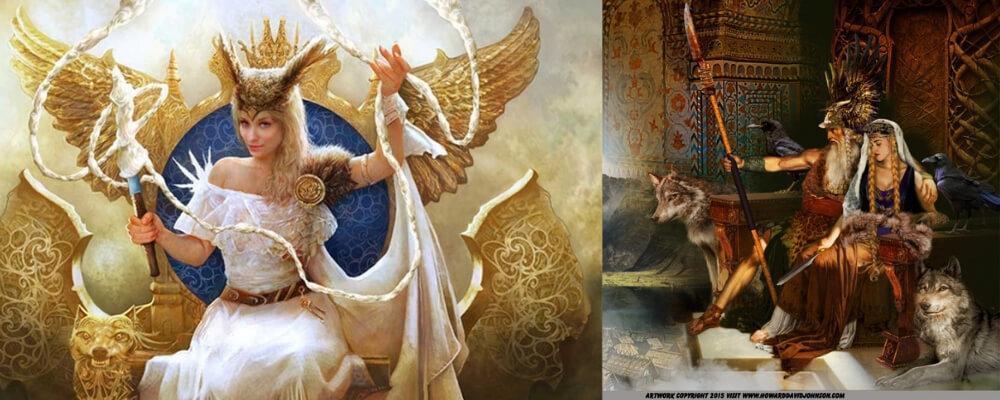 frigg the goddesse wife of odin