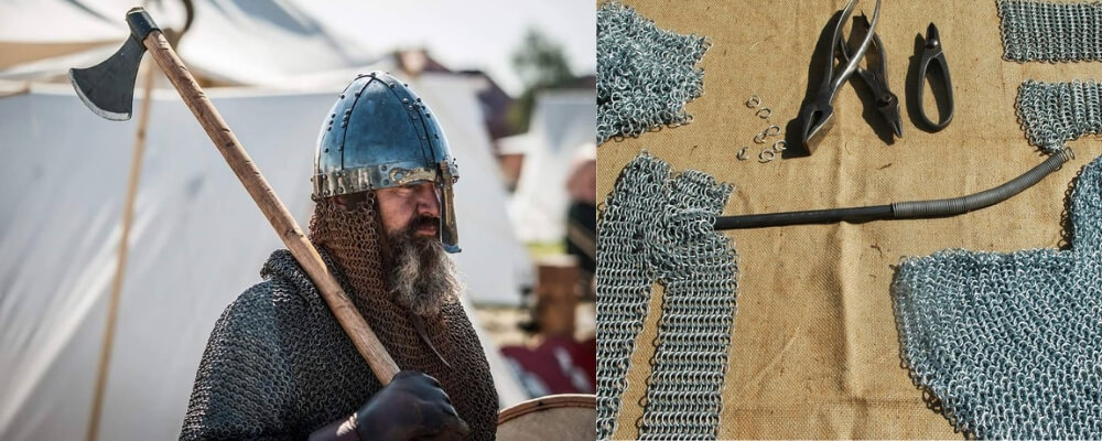 some vikings weared a chainmail armor