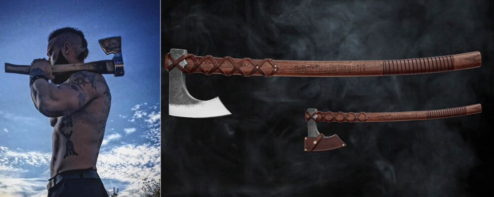 the bearded axe classic weapon of the vikings