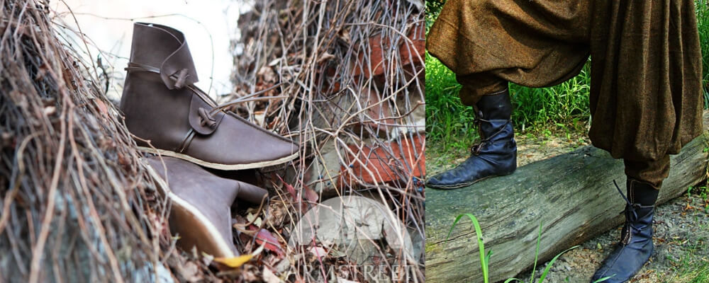 traditional viking shoes in leather