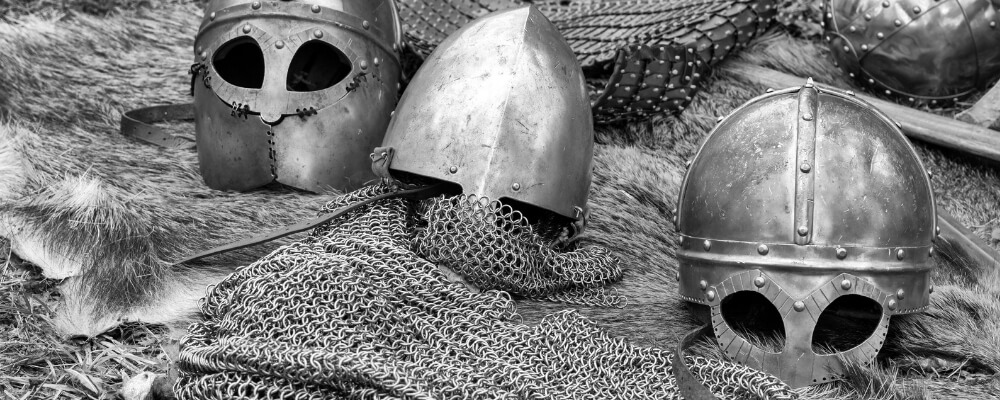 viking armor chainmail and helmet