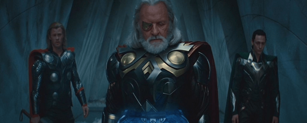 Thor and Odin and loki