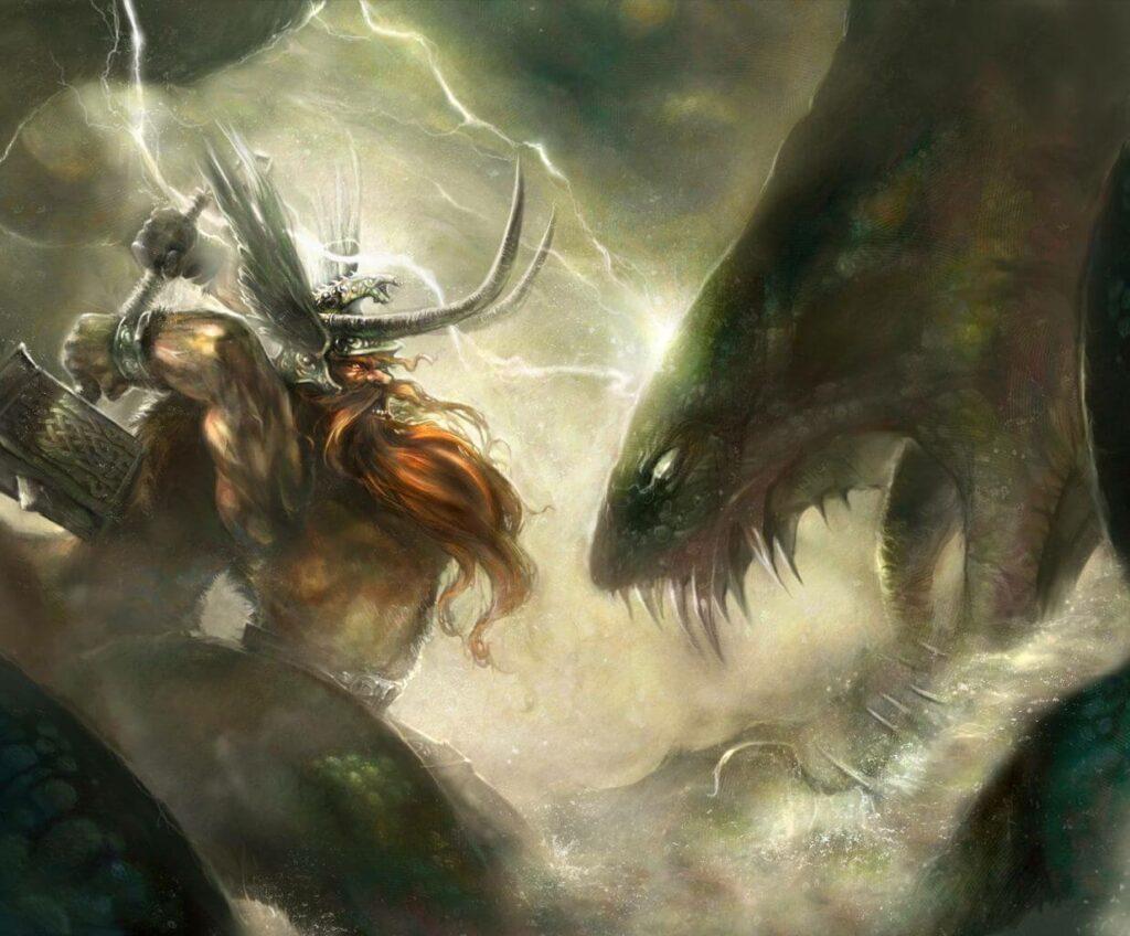 Thor vs jorlungandr