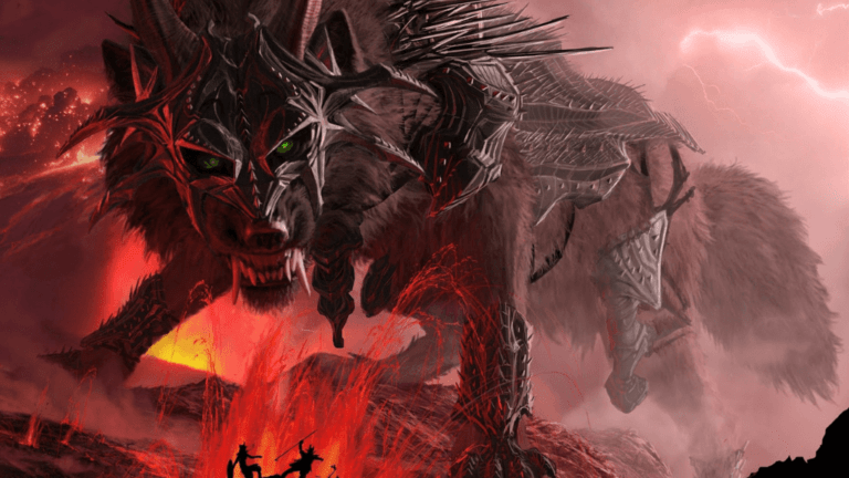Fenrir wolf od norse mythology