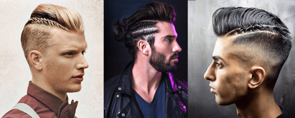 Mohawk Hairstyle with Braided Sides