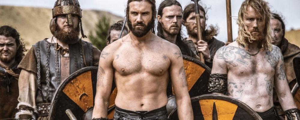 Strength viking warrior