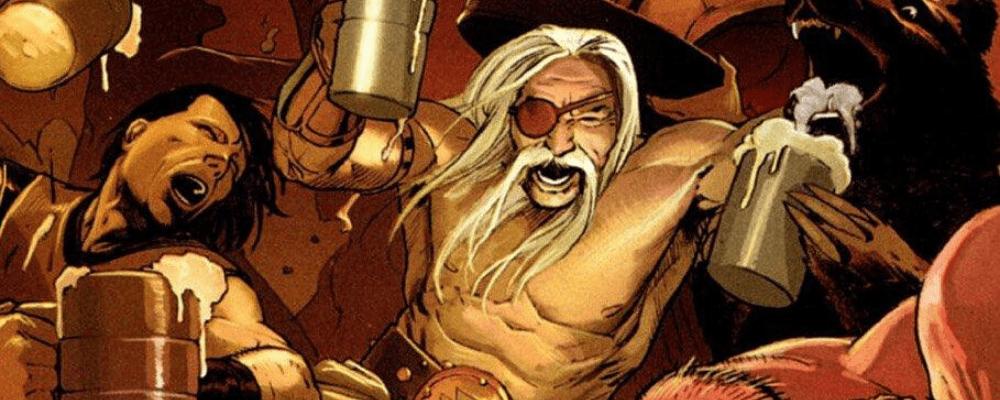 viking warriors drinking