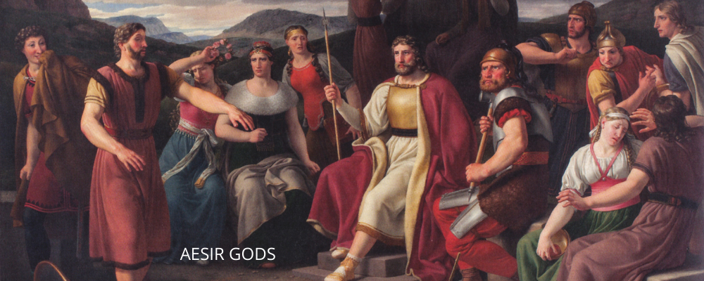 Aesir gods in the image