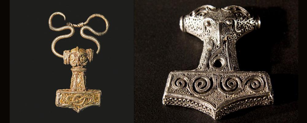 Viking jewelry thor's hammer