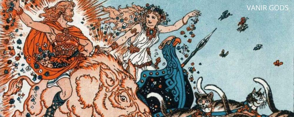 Vanir gods, man and woman