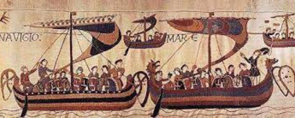 Old viking image of travelling