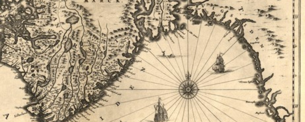 Viking making maps, old map