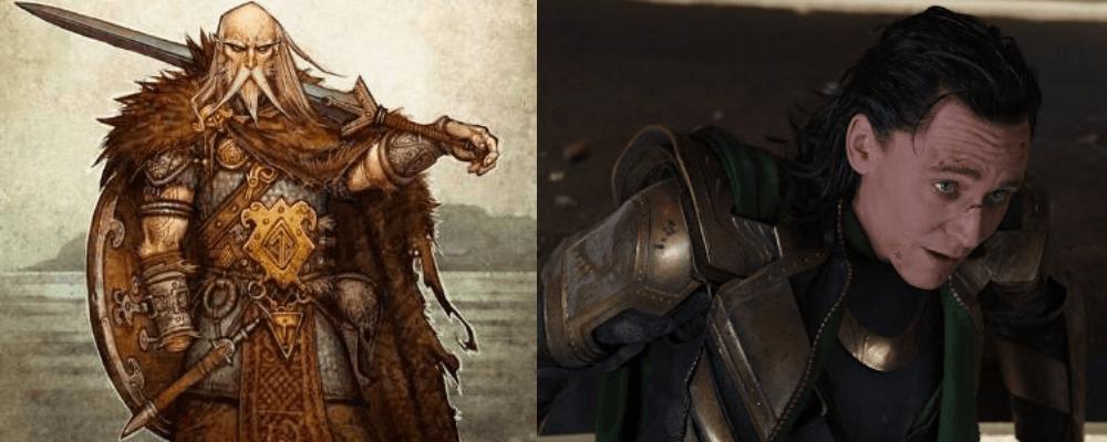 Heimdall und Loki / Tyr und Garm