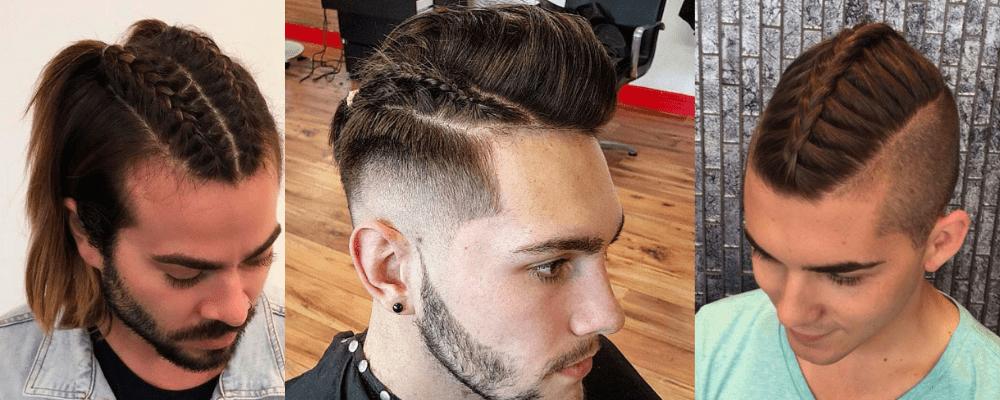 Geteiltes, geflochtenes Haar